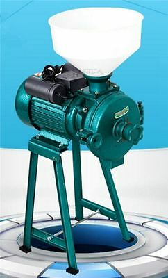 Corn Grain Electric Animal Poultry Rice Wheat Grian Wet Dry Grinder Feed Mill O