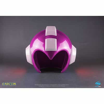 Capcom Pink Mega Man Wearable Helmet Prop Replica Cosplay Megaman LED Lights
