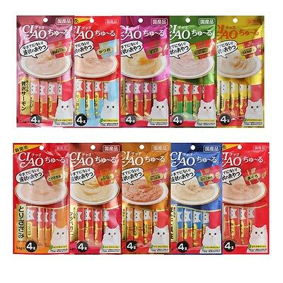 CIAO Churu Cat Lick Snacks Fillet 10 type Flavor Cat Food