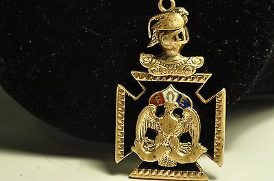 Very nice design Antique masonic Gold Filled pocket watch chain  fob/pendant