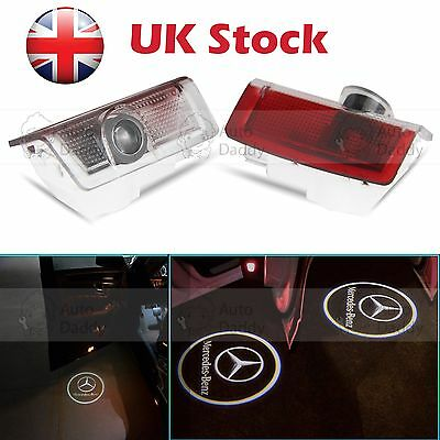 2X LED Door Welcome Laser Logo Projector Ghost Shadow Light For Mercedes Benz