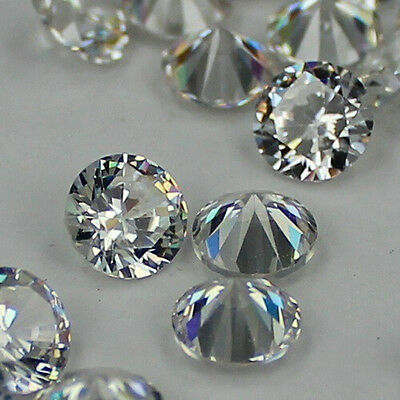100pcs crystal Brilliant cuts Round cubic zirconia beads stones for jewelry DIY