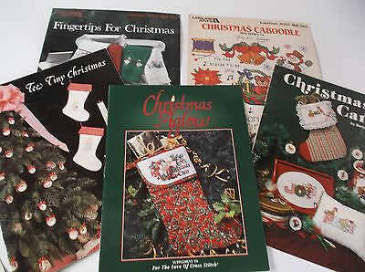 6 Christmas Cross Stitch Leaflets / Book
