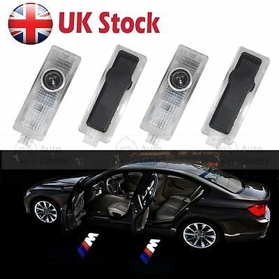 4X LED Courtesy Car Door Welcome Laser Projector Shadow Logo Light Lamp For BMW