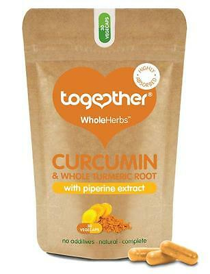 Together Wholeherbs™ Curcumina & Integral Cúrcuma Raíz - 30 Cápsulas Vegetales