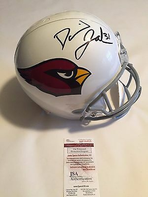 David Johnson Autographed Full Size Arizona Cardinals Helmet JSA Witnessed COA