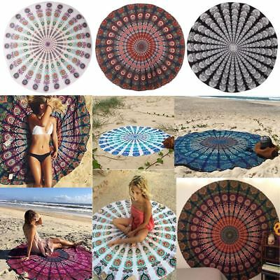 Round Beach Cover Up Pareo Bikini Boho Hippie Summer Bathing Suit Dress Swimwear