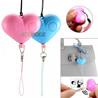 Personal Security Alarm Keychain Annunciator Self Protection Guardian Heart New