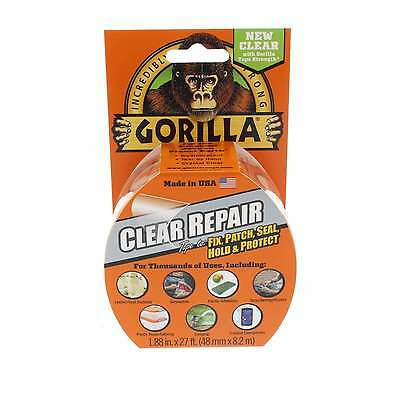 Gorilla Clear Repair Tape Fix Patch Seal Hold Protect 8.2m x 48mm
