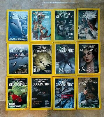 National Geographic Magazine - 1995  ALL 12 issues complete lot