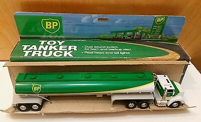 ** Vintage BP limited edition Toy tanker truck dual Sound horn tail lights **