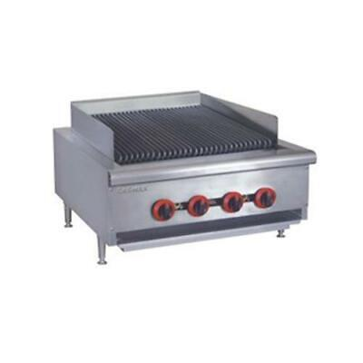 Gas Char Grill 4 Burner, Chargrill Cooktop Commercial Restaurant Equipment NEW