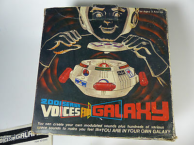 vintage 2001 Series Voices from Galaxy Analog Sound Creator Space Toy in Box