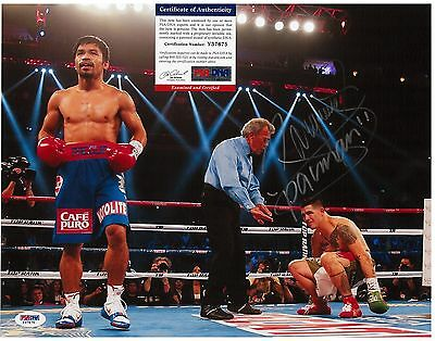 Manny Pacman Pacquiao Signed 11X14 Photo Autographed PSA/DNA Y37675