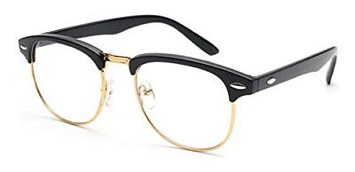 Outray Vintage Retro Classic Half Frame Horn Rimmed Clear Lens Glasses 2135c1
