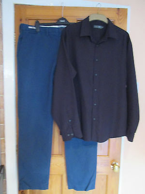 Man's Trousers And Shirt.  From M&s.
