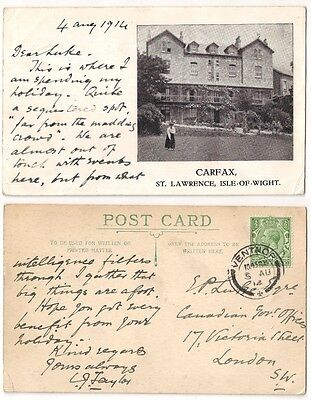 CARFAX, ST LAWRENCE nr VENTNOR pu1914 HOTEL, Lady Playing Croquet