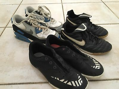 Boys Nike Air & Nike Indoor Soccer Shoes Size 2-3