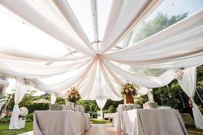 Ceiling Draping Sheer Voile Chiffon Backdrop Wall Divider Drape Panel Wedding