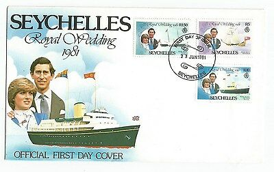 SEYCHELLES  - BRITISH COLONIES  ROYAL WEDDING FDC  COVER -  Lot ( BC -8)