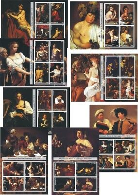 Caravaggio  8 Souvenir Sheets Mnh Imperforated