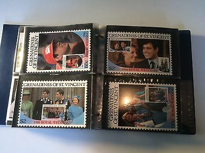 Prince Andrew & Fergie Royal Family Wedding Fdc Postcards Stamp Collection Album