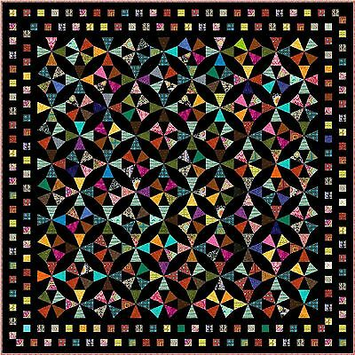"""EXPRESSION - 101"""" - Quilt-Addicts Pre-cut Patchwork Quilt Kit King size"""