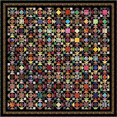 """WATUSI - 101"""" - Pre-cut Quilt Kit by Quilt-Addicts King size"""