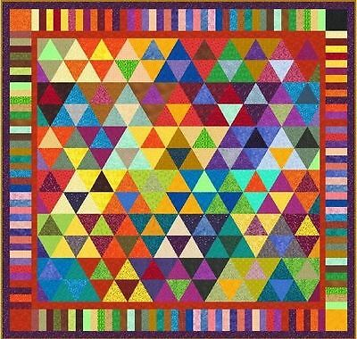 """TRAPEZE - 97"""" x 93"""" - Pre-cut Quilt Kit by Quilt-Addicts King size"""