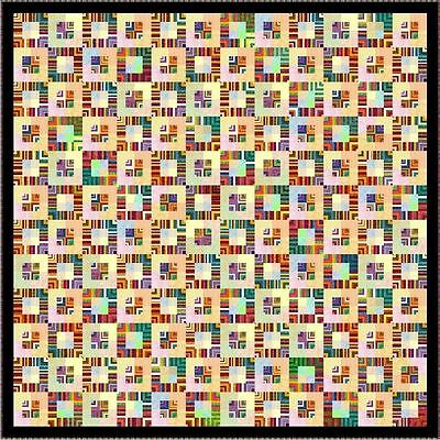 """JUMBALAYA - 102"""" - Pre-cut Quilt Kit by Quilt-Addicts King size"""