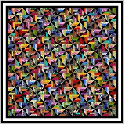 """JUMPING JACK - 103"""" - Pre-cut Quilt Kit by Quilt-Addicts King size"""