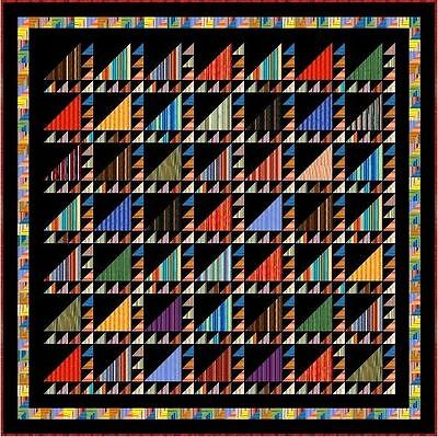 """ARABIAN NIGHTS - 104"""" - Quilt-Addicts Pre-cut Patchwork Quilt Kit King size"""