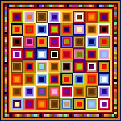 """QUIBBLING - 97"""" - Pre-cut Quilt Kit by Quilt-Addicts King size"""