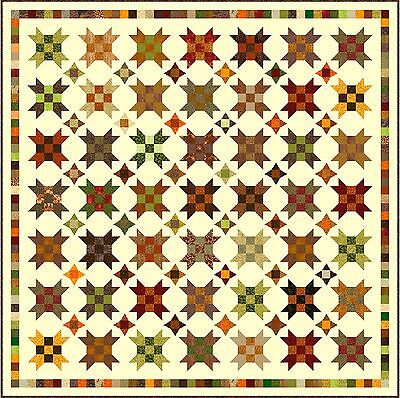 """FARMER'S DAUGHTER - Earth - 95"""" - Pre-cut Quilt Kit by Quilt-Addicts King size"""