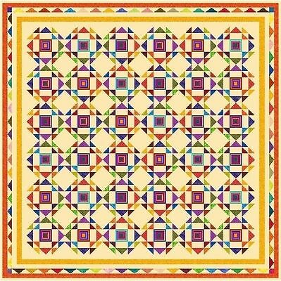 """HIAWATHA - 102"""" - Pre-cut Patchwork Quilt Kit by Quilt-Addicts King"""