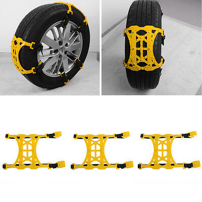 1PC Winter Truck Car Snow Chain Tire Anti-skid Belt Easy Installation