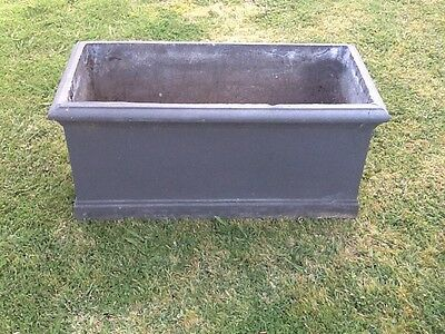 Charcoal Garden Planter Box Rectangle Large