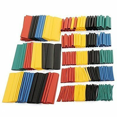 SOLOOP 328Pcs 8 Sizes Assortment 2:1 Heat Shrink Tube Tubing Sleeve Wrap Wire