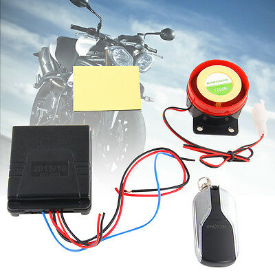 Motorcycle 12V Anti Theft Remote Control Alarm Security System Engine Start