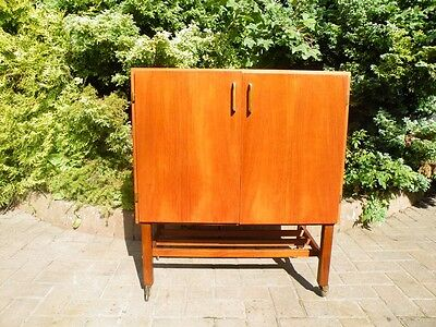 Teak Mid Century Danish 1960's Record Cabinet / Sideboard / Credenza