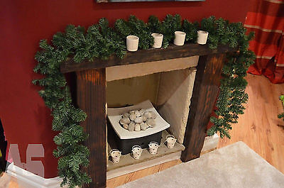 2.7m Imperial Pine Christmas Garland Fireplace Wreath XMAS Decoration 9ft