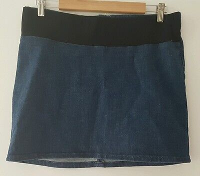 MATERNITY Denim Skirt Ladies Size 8 with stretchy BELLY Belt - ASOS MATERNITY