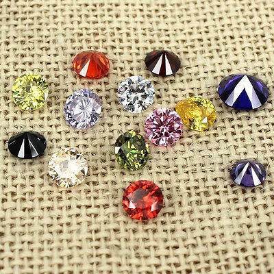 1000p 1mm-3.5mm Cubic Zirconia Stones AAA Round Brilliant Cut CZ for Jewelry DIY