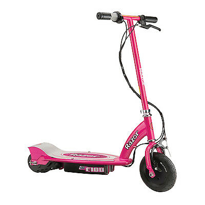 Razor E100 Motorized 24 Volt Electric Powered Ride-On Scooter, Pink | 13111261