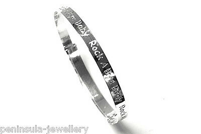 Sterling Silver Rock a Bye Baby Christening expanding Bangle Gift boxed