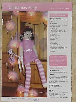 Christmas Fairy Doll Pattern For Machine Knitting