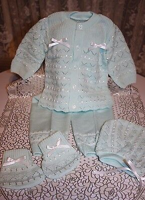 DARLING Fine Delicate Knit Baby Doll Outfit For Reborn MINT
