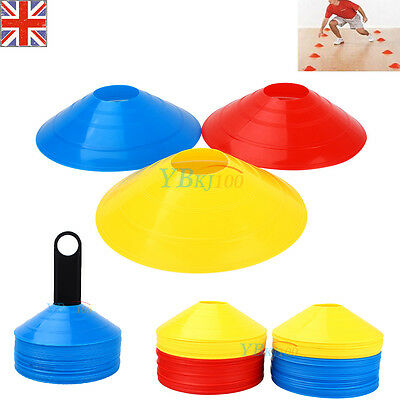 50PCS Football Rugby Sport Cross Training Space Marker Soccer Disc Cone Saucer A