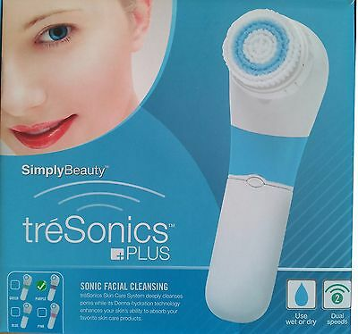 TreSonics Plus Facial Cleanser / Cleansing System / Face Massager / NEW