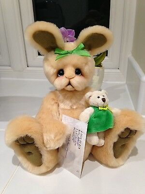 Ooak Bunny Apricot by bear artist Kim Gallimore of A bear by Kim